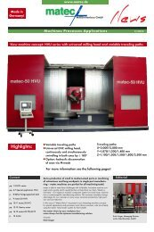 HVU Series with universal milling head and variable - matec