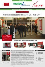 matec Hausausstellung 26.-28. Mai 2011