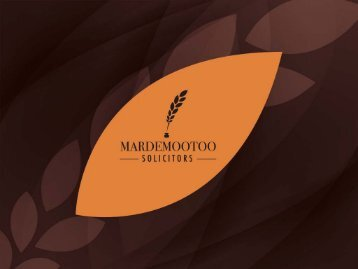 Click here to see the presentation of Mardemootoo Solicitors
