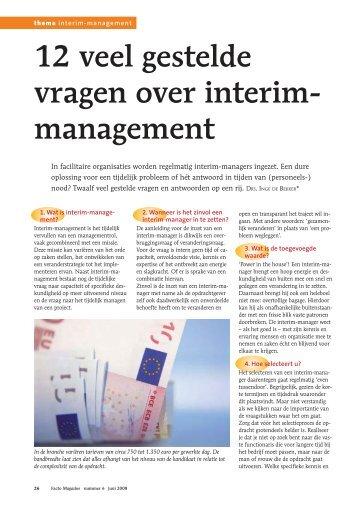 De 12 meest gestelde vragen over interim management - Hospitality ...