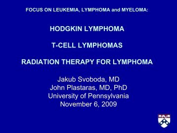 HODGKIN LYMPHOMA - Abramson Cancer Center