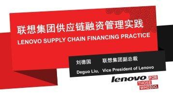 Lenovo - Supply Chain Council