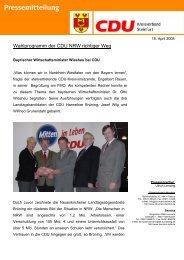 Wahlprogramm der CDU NRW richtiger Weg - CDU Kreisverband ...