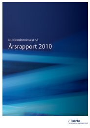 Årsrapport 2010 - Pareto Project Finance