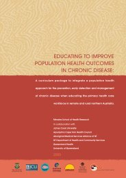 educating to improve population health outcomes in chronic disease
