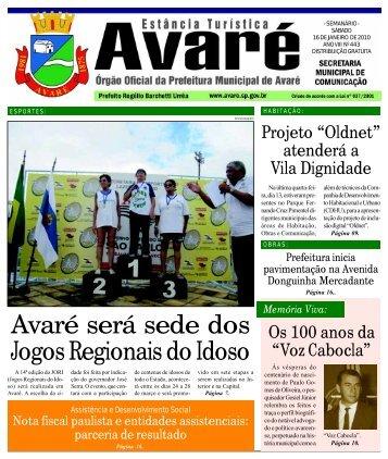 Avaré será sede dos Jogos Regionais do Idoso - Câmara Municipal ...