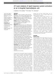 A 5-year analysis of rapid response system activation at an in ...