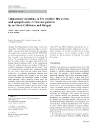 Interannual variations in fire weather, fire extent, and synoptic-scale ...