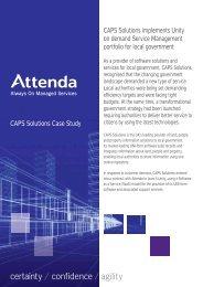 CAPS Solutions Case Study CAPS Solutions implements ... - Attenda
