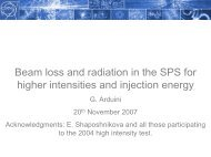 Beam loss and radiation in the SPS for higher intensities and ...