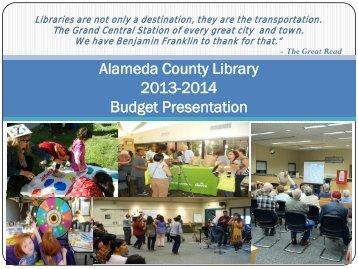 2010-2011 Budget Presentation - Alameda County Library