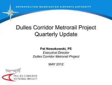 Dulles Corridor Metrorail Project Quarterly Update