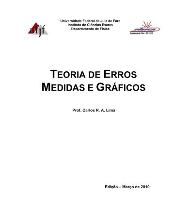 TEORIA DE ERROS MEDIDAS E GRÁFICOS - Departamento de ...