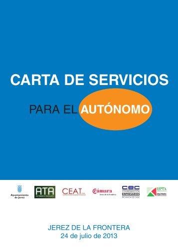 Carta de Servicios para el Autónomo - Ayuntamiento de Jerez