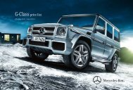 G-Class price list - Mercedes-Benz (UK)