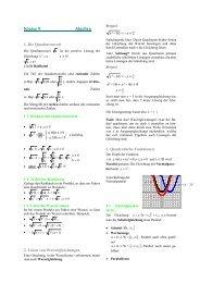 Formelsammlung Algebra 9 - Evangelisches Gymnasium ...