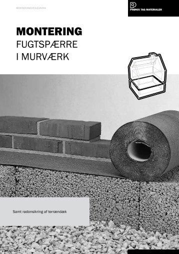 Fugtspærre i murværk - Phønix Tag Materialer
