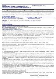 BNP PARIBAS GLOBAL CONSERVATIVE, FI