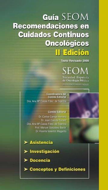 Guía SEOM Recomendaciones en Cuidados Continuos ...