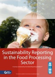 Sustainability Reporting in the Food Processing Sector - Global ...