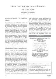 Ansichten zur deutschen Sprache im Jahr 2010 - Institut für ...