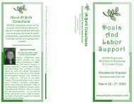 Doula And Labor Support - JM Birth Consultants