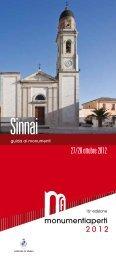 Monumenti Aperti 2012 - 16° edizione - Guida ai ... - Comune di Sinnai