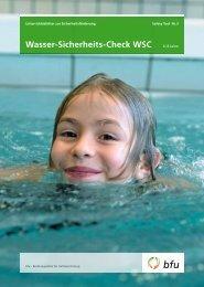 Wasser-Sicherheits-Check WSC – Safety Tool Nr. 3 - BfU
