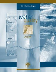 2006 Water Quality Report - City of Tualatin
