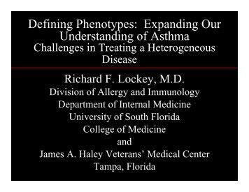 NHLBI Asthma Phenotypes-Lockey - World Allergy Organization