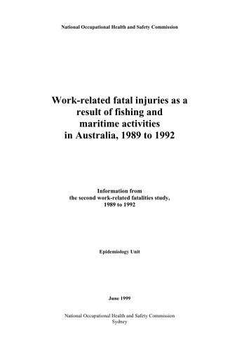 Work-related fatal injuries as a result of fishing and maritime ...