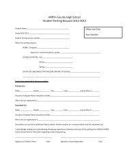 Parking Permit Application - Mifflin County School District