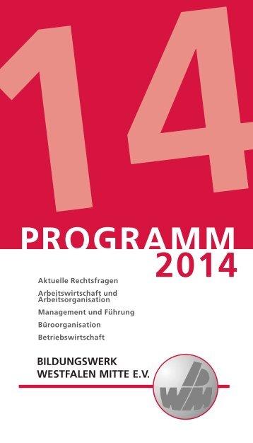 Das Programm 2014 als PDF - Bildungswerk Westfalen-Mitte eV
