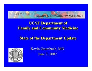 UCSF School Of Medicine – Family - Family and Community ...