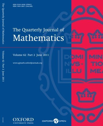 Front Matter (PDF) - Quarterly Journal of Mathematics - Oxford ...