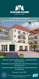 27. InternatIonales Bad KlosterlausnItzer symposIum - Moritz Klinik