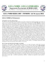 lega nord - lega lombarda - LEGA NORD Blog - Sezione di Bergamo