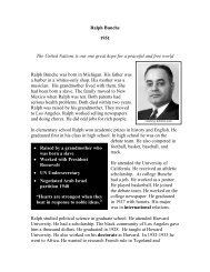 Ralph Bunche - The Nobel Peace Laureate Project