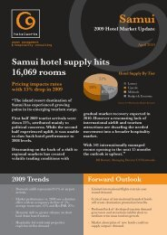 Samui 2009 Hotel Market Update - C9 Hotelworks