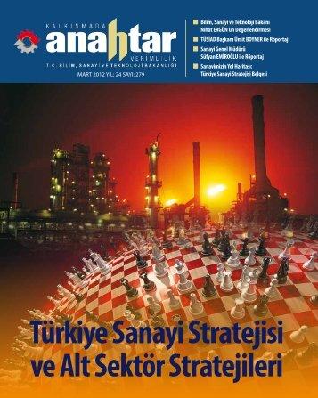 Mart 2012 Sayı:279 - Verimlilik Genel Müdürlüğü - Bilim, Sanayi ve ...