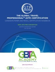 the global travel professionaltm (gtp) certification - Event Report