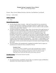 Dripping Springs Community Library District April 17, 2013 Meeting ...