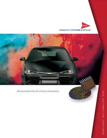 Scs automotive coatings - Specialty Coating Systems