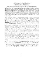 Download ADA Paratransit Application - Yuma County Area Transit