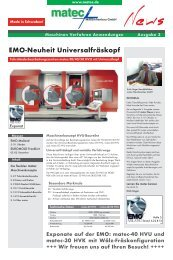 EMO-Neuheit Universalfräskopf - matec