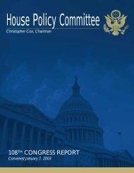 HousePolicyCommittee108thCongressReport