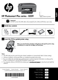 HP Photosmart Plus series - B209 - Hewlett Packard
