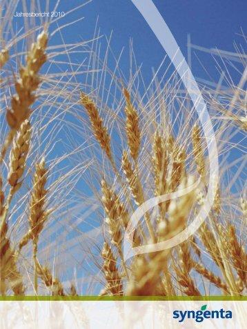 Syngenta Jahresbericht 2010 - annual report 2010