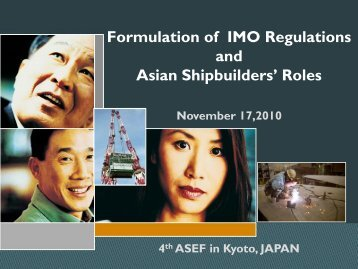 Technical Issues under Discussion at IMO - ASEF - Asian ...