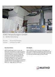 Labels Converting k b GIKO Verpackungen GmbH - MATHO GMBH